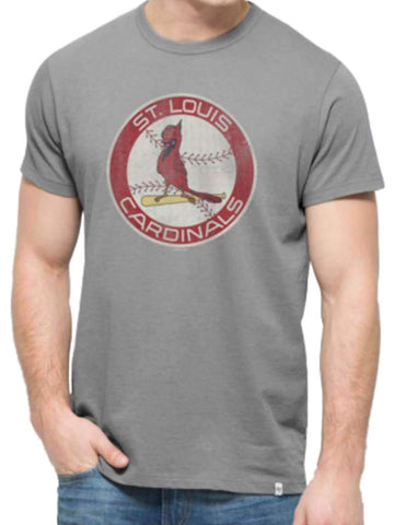 Shop St. Louis Cardinals 47 Brand Grey Cooperstown Knockaround Flanker T-Shirt