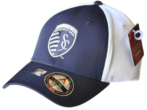 Shop Sporting Kansas City Antigua Navy Performance Technical Fit Phase Mesh Hat Cap