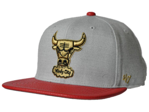 Shop Chicago Bulls 47 Brand Gray Red Cobbled Bill Adjustable Strapback Hat Cap - Sporting Up