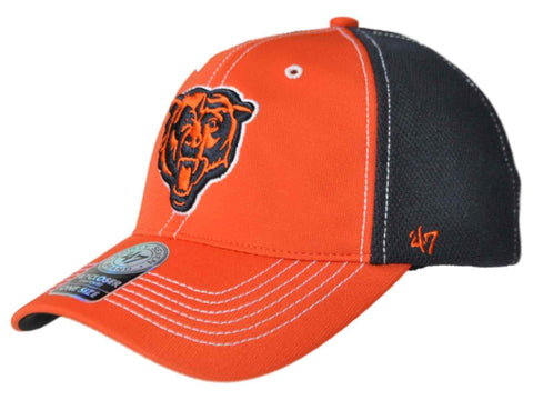 Chicago Bears 47 Brand Orange Navy Mesh Closer Performance Flexfit Hat Cap - Sporting Up