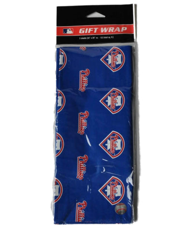 "Shop Philadelphia Phillies MLB Gift Wrapping Paper 3 Sheets (30"" X 20"")"