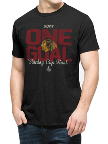 Shop Chicago Blackhawks 2015 NHL Stanley Cup Final 47 Brand Black Scrum T-Shirt