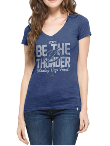 Shop Tampa Bay Lightning 2015 NHL Stanley Cup Final 47 Brand Women Scrum T-Shirt - Sporting Up