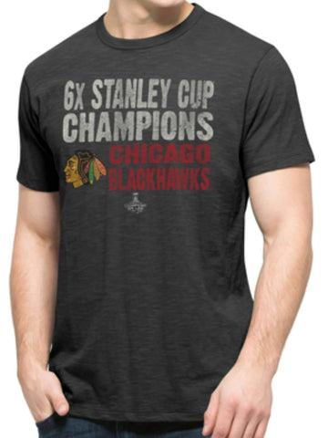 Shop Chicago Blackhawks 47 Brand 6 Time NHL Stanley Cup Champions Scrum T-Shirt