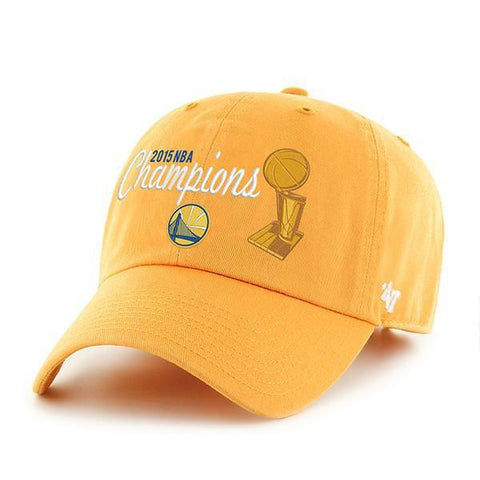 Golden State Warriors 47 Brand 2015 NBA Champions Gold Trophy Adjustable Hat Cap