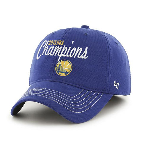Golden State Warriors 2015 NBA Finals Champs 47 Brand Blue Closer Hat Cap