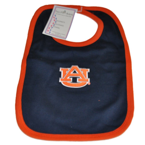 Shop Auburn Tigers Two Feet Ahead Infant Baby Newborn Navy Orange Knit Bib - Sporting Up