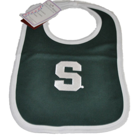 Shop Michigan State Spartans Two Feet Ahead Infant Baby Newborn Green Knit Bib