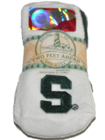 Shop Michigan State Spartans Two Feet Ahead Infant Baby Newborn 3 Pair Socks Pack