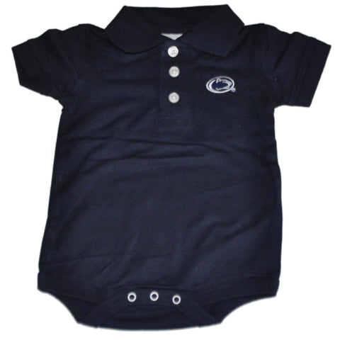 Shop Penn State Nittany Lions Two Feet Ahead Baby Golf Polo Navy One Piece Outfit - Sporting Up