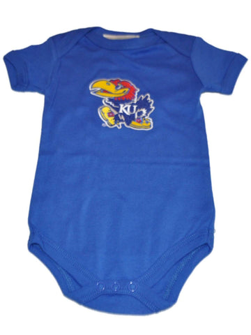 Shop Kansas Jayhawks Two Feet Ahead Infant Baby Lap Shoulder Blue One Piece Outfit