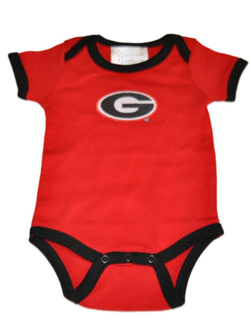 Shop Georgia Bulldogs TFA Infant Baby Lap Shoulder Ringer Romper One Piece Outfit