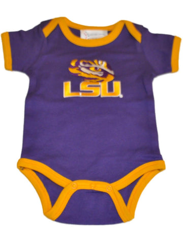 Shop LSU Tigers TFA Infant Baby Lap Shoulder Ringer Romper One Piece Outfit - Sporting Up