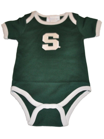 Shop Michigan State Spartans TFA Infant Baby Lap Shoulder Ringer Romper Outfit
