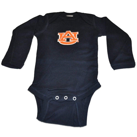 Shop Auburn Tigers Two Feet Ahead Infant Baby Navy Long Sleeve Creeper Outfit - Sporting Up