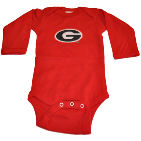 Shop Georgia Bulldogs Two Feet Ahead Infant Baby Red Long Sleeve Creeper Outfit