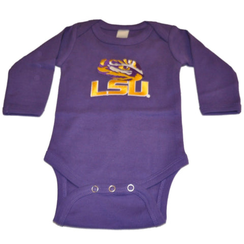 Shop LSU Tigers Two Feet Ahead Infant Baby Purple Long Sleeve Creeper Outfit