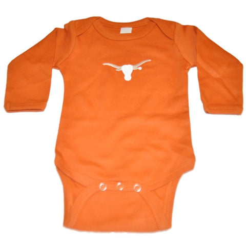 Shop Texas Longhorns TFA Infant Baby Orange Long Sleeve Creeper Outfit - Sporting Up