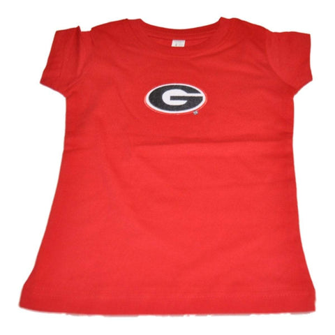 Shop Georgia Bulldogs Two Feet Ahead Toddler Girls Red Long Length Cotton T-Shirt