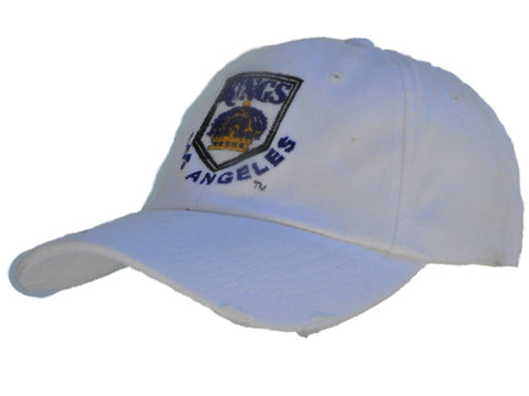 Shop Los Angeles Kings Retro Brand Dirty White Worn Vintage Flexfit Hat Cap - Sporting Up