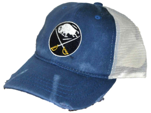 Buffalo Sabres Retro Brand Blue Worn Mesh Vintage Adjustable Snapback Hat Cap