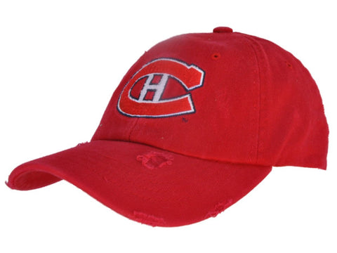 Shop Montreal Canadiens Retro Brand Red Worn Vintage Flexfit Slouch Hat Cap - Sporting Up