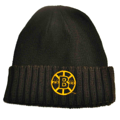 Shop Boston Bruins Retro Brand Unisex Faded Black Cuffed Knit Beanie Hat Cap - Sporting Up