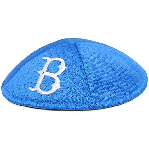 Shop Brooklyn Dodgers Emblem Source Blue Pro-Kippah Yarmulke with Hair Clips - Sporting Up