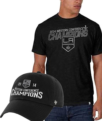 Shop Los Angeles LA Kings 2014 NHL Western Conference Champions Shirt Hat Pack