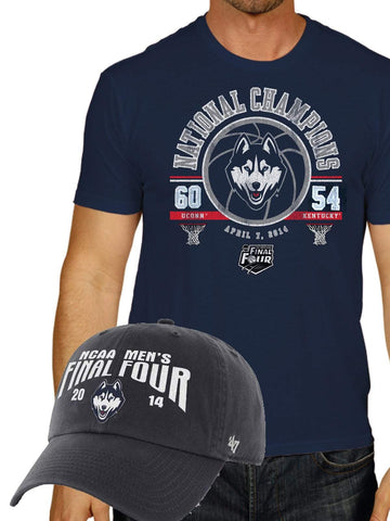 Shop Connecticut UConn Huskies 2014 College Basketball Champions Shirt Hat Pack