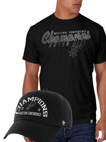 San Antonio Spurs 2014 NBA Western Conference Champions Shirt Hat Pack