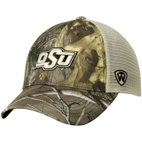 Shop Oklahoma State Cowboys TOW Camo Mesh Prey Adjustable Snapback Hat Cap - Sporting Up