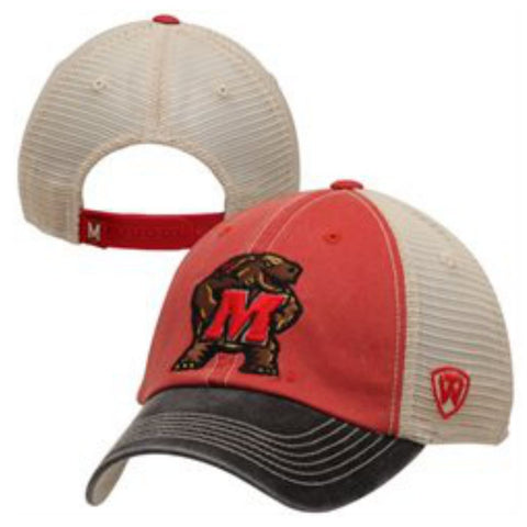 Maryland Terrapins Top of the World Red Black Offroad Adj Snapback Hat Cap