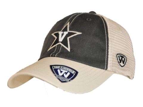 Vanderbilt Commodores Top of the World Black Beige Offroad Adj Snapback Hat Cap