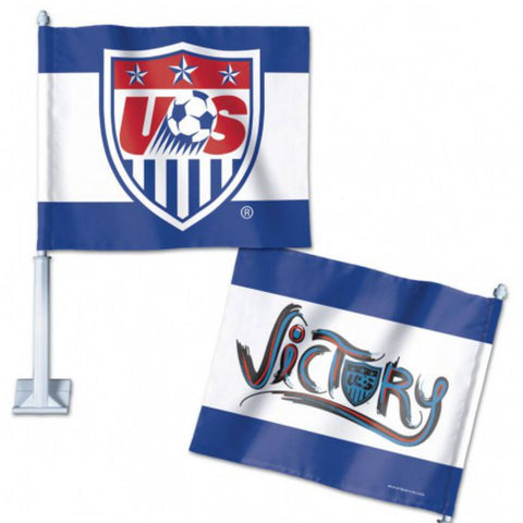 Shop USA United States Soccer Wincraft Red White Blue Victory Car Banner Flag