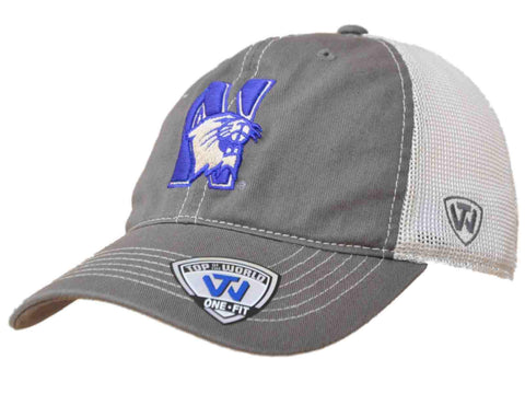 Shop Northwestern Wildcats TOW Gray Two Tone Putty Mesh Flexfit Slouch Hat Cap - Sporting Up