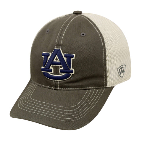 Shop Auburn Tigers TOW Gray Two Tone Putty Mesh Flexfit Slouch Hat Cap