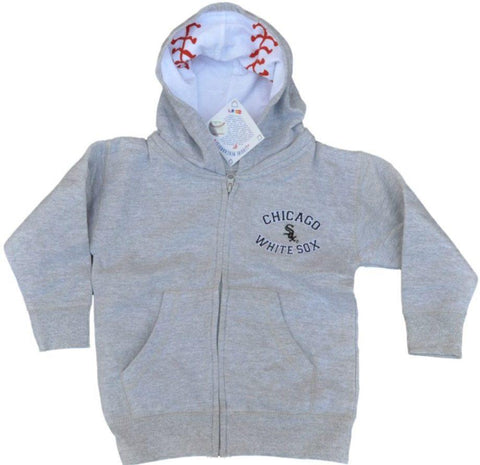 Shop Chicago White Sox SAAG Infant Gray Logo Zip Up Hoodie Sweatshirt Jacket