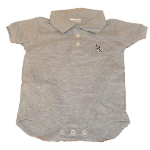 Chicago White Sox SAAG Infant Gray 3 Button Polo One Piece Outfit