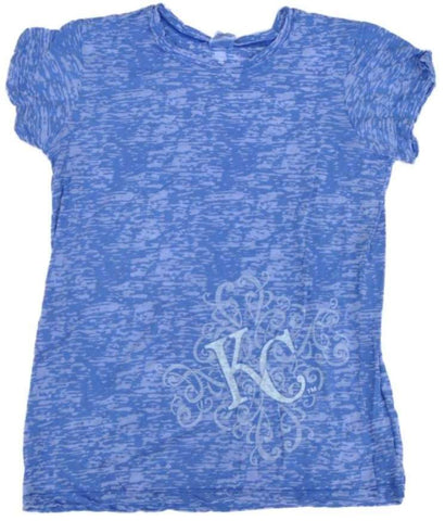 Shop Kansas City Royals SAAG Women Blue Burnout Lightweight Soft Cotton T-Shirt