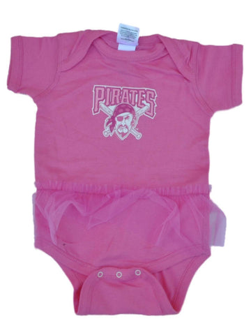 Pittsburgh Pirates SAAG Baby Infant Girls Pink Tutu One Piece Outfit - Sporting Up