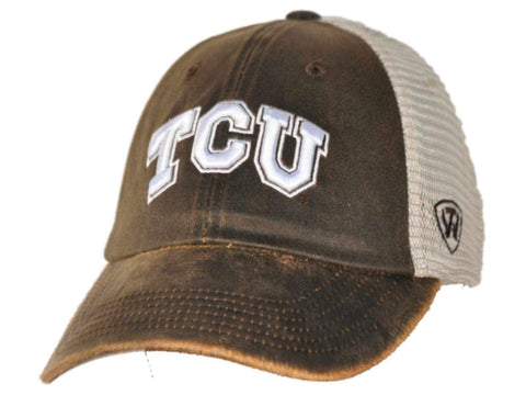 Shop TCU Horned Frogs Top of the World Brown Scat Mesh Adjustable Snapback Hat Cap - Sporting Up