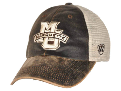 Shop Marquette Golden Eagles Top of the World Brown Scat Mesh Adjustable Snap Hat Cap