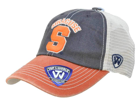 Syracuse Orange Top of the World Gray Orange Offroad Adjustable Snapback Hat Cap