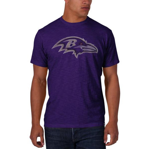 Shop Baltimore Ravens 47 Brand Purple Soft Cotton Short Sleeve Scrum T-Shirt