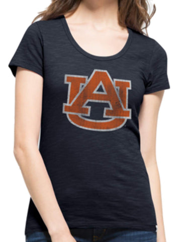 Shop Auburn Tigers 47 Brand Women Fall Navy Scoop Neck Scrum T-Shirt - Sporting Up