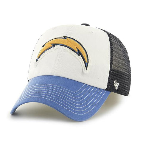 San Diego Chargers 47 Brand Tri-Tone Privateer Closer Flexfit Slouch Hat Cap