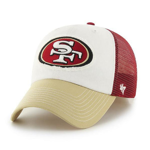 Shop San Francisco 49ers 47 Brand Tri-Tone Privateer Closer Flexfit Slouch Hat Cap