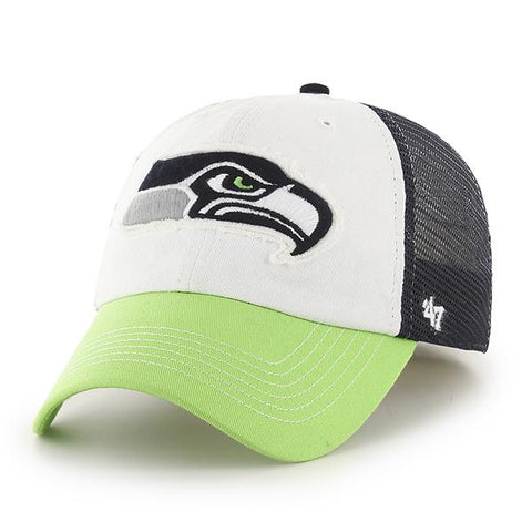 Seattle Seahawks 47 Brand Tri-Tone Privateer Closer Mesh Flexfit Slouch Hat Cap