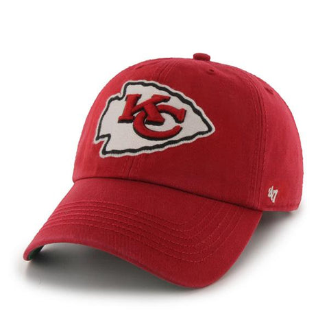 Shop Kansas City Chiefs 47 Brand Red Franchise Fitted Slouch Hat Cap
